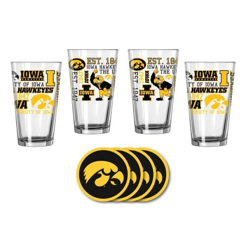 Iowa Hawkeyes Spirit Glassware Gift Set