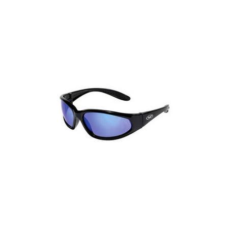 Global Vision Eyewear Hercgtb Hercules Safety Glasses  Black Frames  G Tech Blue Lens