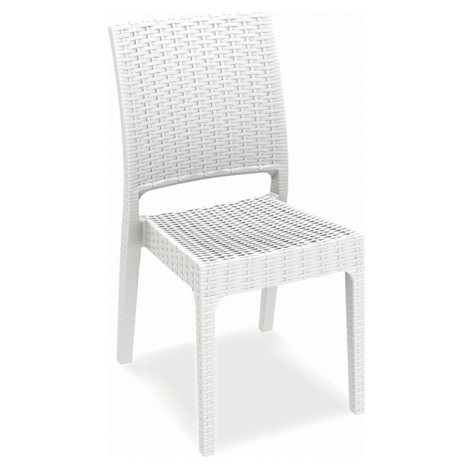 Siesta Florida Resin Wicker Dining Chair Set of 2 by Compamia