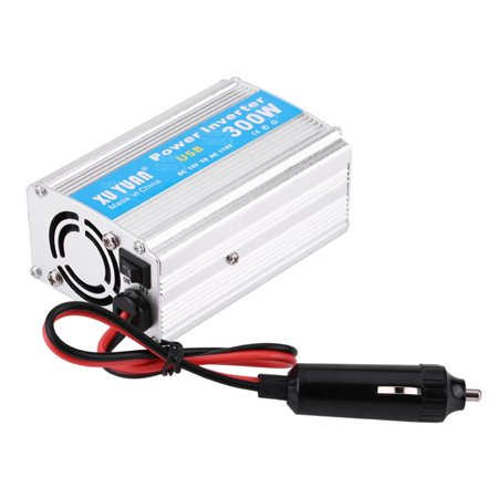 WALFRONT Silver 300W DC 12V to AC 110V Car Power Inverter Converter USB Charger Adapter,12V to 110V Power Inverter,Car Power Inverter - image 3 of 7