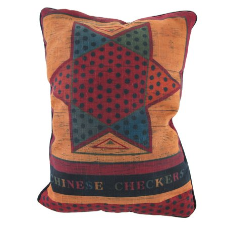 Checkers/Chinese Checkers Decorative Throw Pillow 13in. X18in.