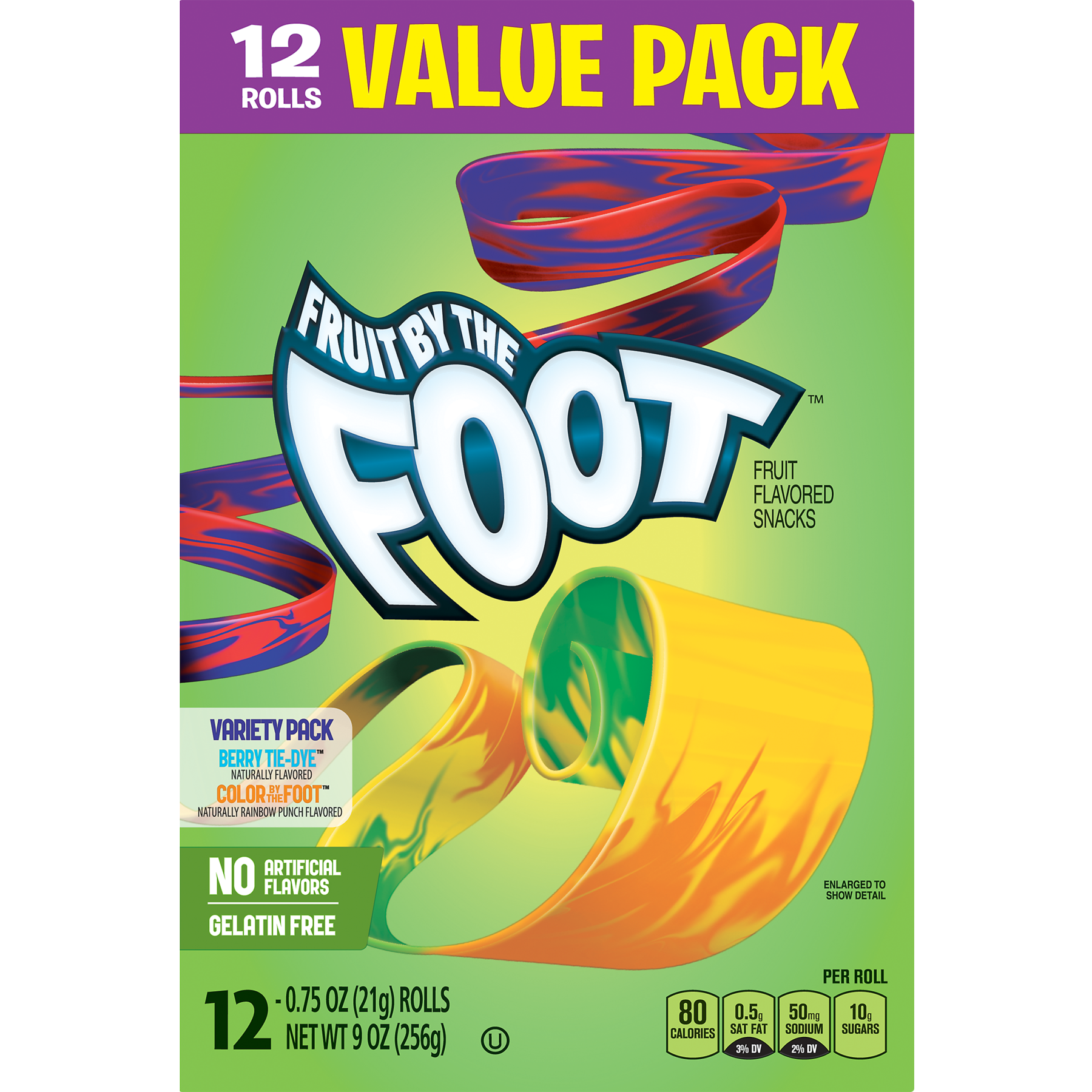 Fruit Snacks Fruit by the Foot Variety Snack Pack 12 Rolls - Walmart.com