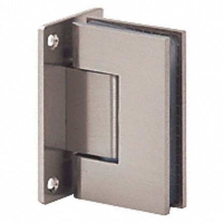 - Brushed Nickel International Series Wall Mount Full Back Plate Square Corner Hinge, Official C.R. Laurence Product By CRL