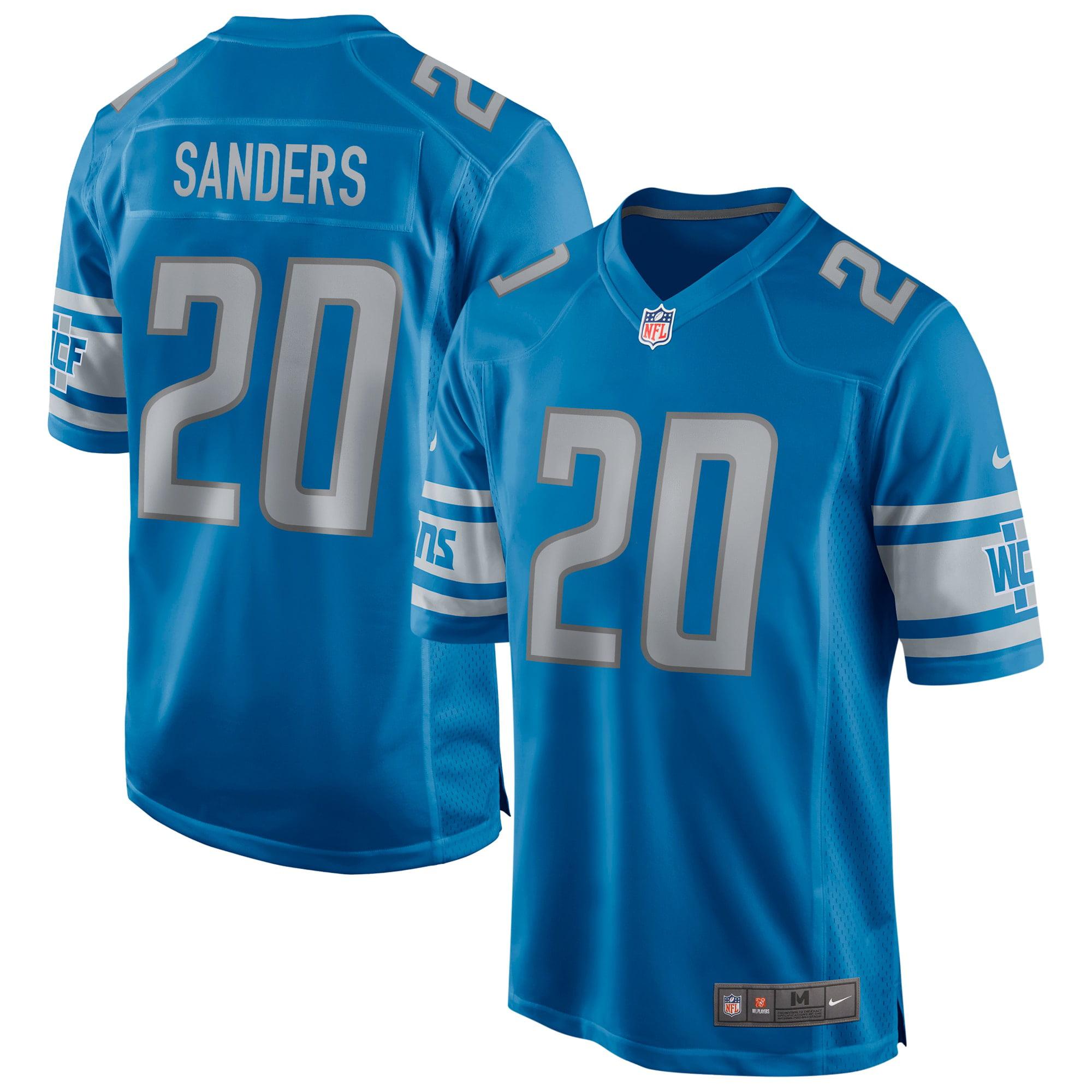 Barry Sanders Detroit Lions Nike Game Retired Player Jersey - Blue - Walmart.com