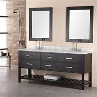 Design Element DEC077B 72 in. Double Sink Vanity Set