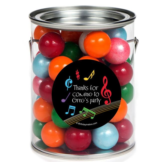 Costume Supercenter BB1350PC Dancing Music Personalized Paint Can Favor Container - Pack of 6
