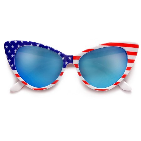 Patriotic American Flag High Fashion Cat Eye (America Eye Glasses)