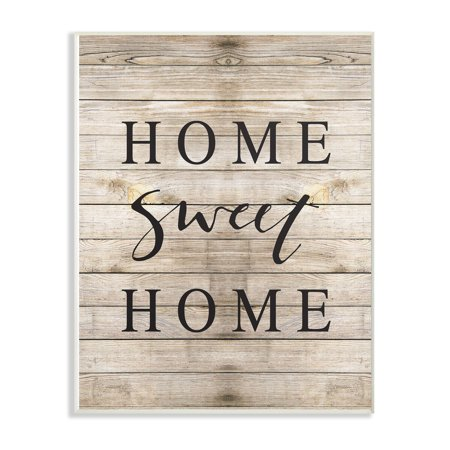 The Stupell Home Decor Collection Home Sweet Home Family Typography Oversized Wall Plaque Art, 12.5 x 0.5 x (Plaque Sweet)