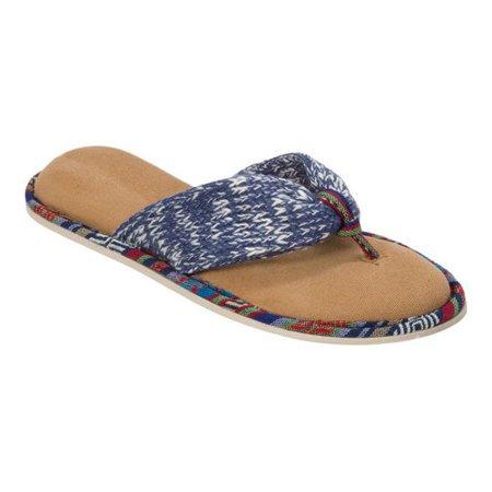 d37bc4bf09830e women s dearfoams summer knit thong slipper - Walmart.com