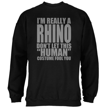Halloween Human Rhino Costume Mens Sweatshirt - The Human Centipede Halloween Costume