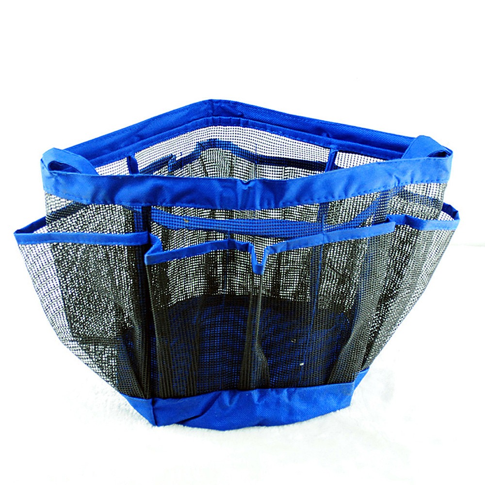 Binmer Mesh Shower Tote Wash Bag Bathroom Caddy With 8 Basket Pocket Storage Package by