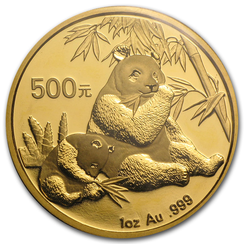 2007 China 1 oz Gold Panda BU (Sealed)