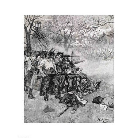 Lexington Green - If they want war it may as well begin here Poster Print by Howard Pyle