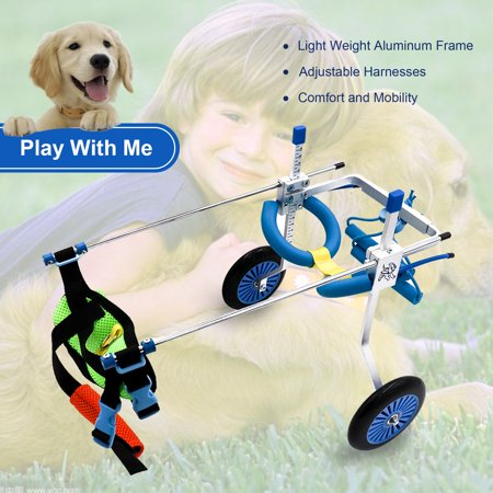 Adjustable 2 wheels Pet Dog Wheelchair for Hind legs Rehabilitation M