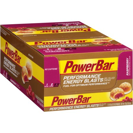 PowerBar Energy Blasts Gel Filled Chews Raspberry 12 Pouches