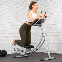 XtremepowerUS Roller Coaster Abdominal Machine Waist Fitness Equipment Abdomen Cushion Exercise Machine