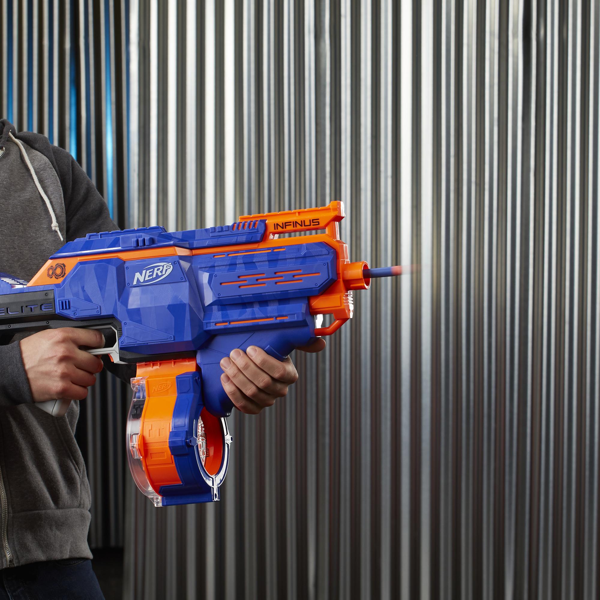 Nerf N-strike Elite Infinus with Speed-Load Tech 30-Dart Drum 30 Nerf Darts