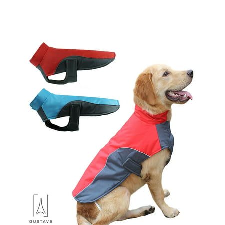 GustaveDesign Warm Winter Pet Coat Dog Waterproof Reflective Jacket Vest for Small Medium Large Dogs Outfits