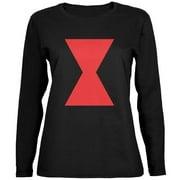 Halloween Black Widow Black Womens Long Sleeve T-Shirt - 2X-Large