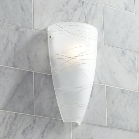 - Possini Euro Design Modern Wall Light Freeform White 13.25