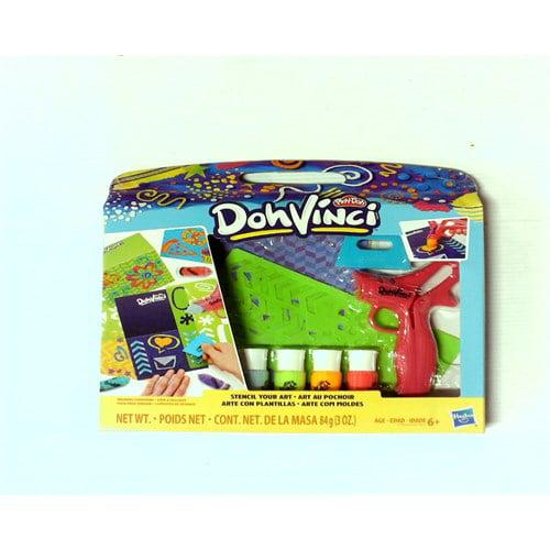 Play-Doh E1960 Dohvinci Stencil Your Art Stenciling Kit - Art Supplies for Kids & Tweens, Brown