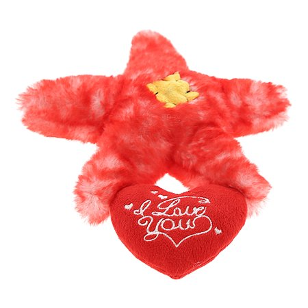 Super Soft Plush Dollibu Red Sea Star I Love You Valentines