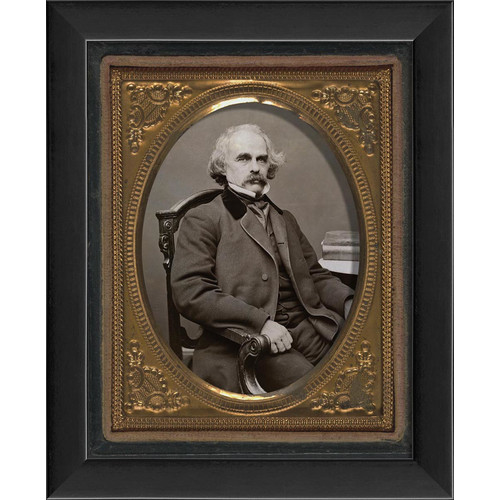 The Artwork Factory Tintype Photographs Nathanial Hawthorne Framed Photographic Print