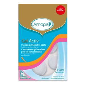 Amope GelActiv Invisible Gel Sensitive Spots for Women, 6 Ct