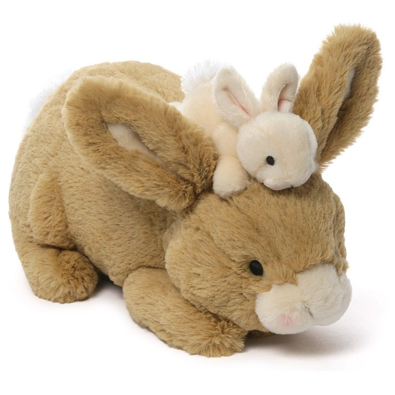Doe Leveret Mom Baby Bunny Stuffed Animal By Gund 4050704