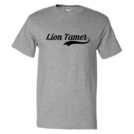 Funny Lion Tamer Retro Old School T shirt Tee Gift](Female Lion Tamer)