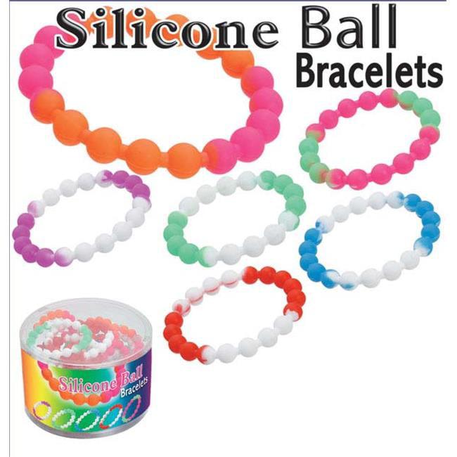 Puka 13369 5. 5 x 5. 5 x 3. 5 Silicone Ball Bracelets