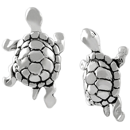 Brinley Co. Turtle Sterling Silver Stud Earrings