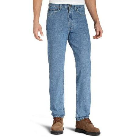 b90f2558 Carhartt Men's Relaxed Fit Five Pocket Tapered Leg Jean B17,Stonewash,31 x  32 - Walmart.com