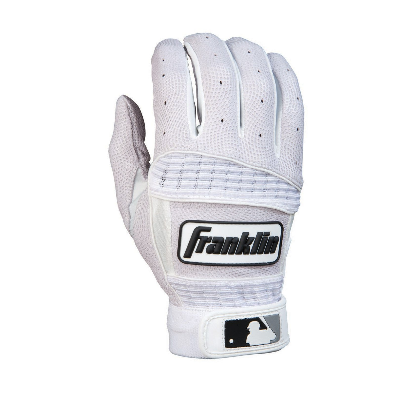 Franklin Neo Classic II Series Adult Batting Gloves - Pearl/White
