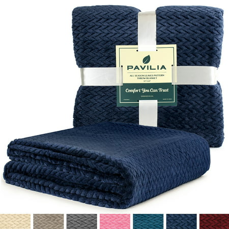 Luxury Soft Plush Navy Blue Throw Blanket For Sofa Couch
