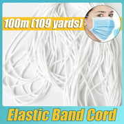 10.9/21.8/54.6/109 yards Round Elastic Band Cord Rope Ear Hanging for Mask DIY Accessories