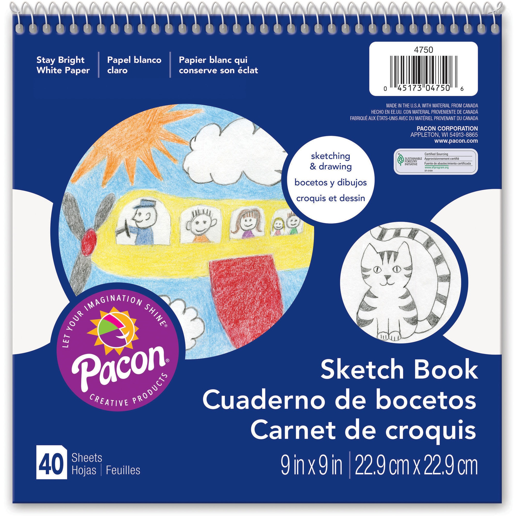 Pacon Beginner's Sketch Book, 40 / Pad (Quantity)