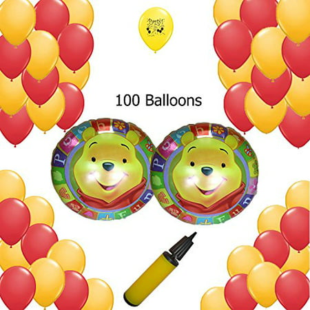 Winnie the Pooh Party Supplies Balloon Decoration Kit - 100 Balloon Count - Winnie The Pooh Party
