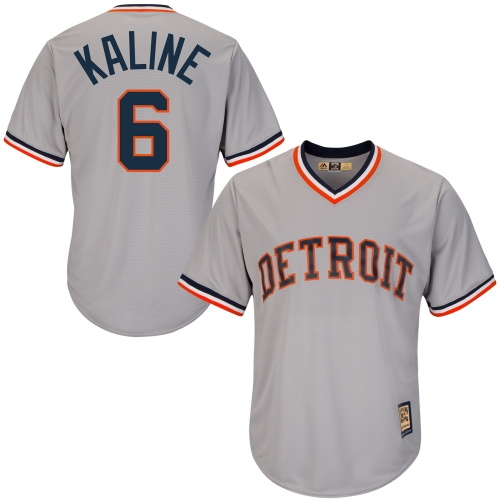 Al Kaline Detroit Tigers Majestic Cool Base Cooperstown Collection Player Jersey - Gray