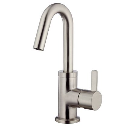 Danze Amalfi One-Handle Lavatory Faucet Single Hole Mount with 50/50 Touch Down Drain & Optional Deck Plate Included 1.2 GPM Brushed Nickel