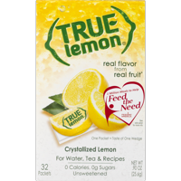 (64 Packets) True Lemon Drink Mix, 0.90 oz