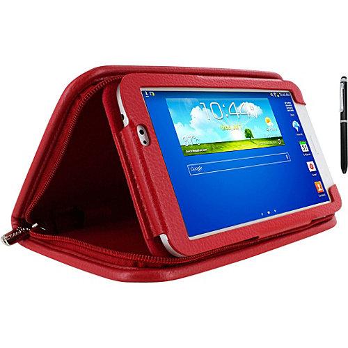 rooCASE Samsung Galaxy Tab 3 7.0: Executive Portfolio Leather Case w/ Stylus