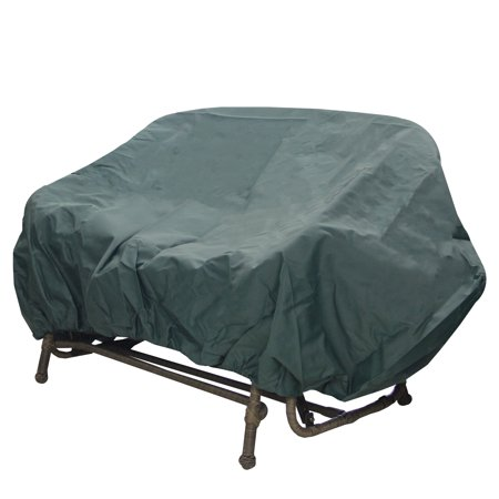 Durable Outdoor Patio Vinyl 3-Seat Glider Chair Cover - Green ()