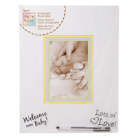 Baby Shower Autograph Photo Mat - Pastel Insert - Fits 4 x 6 inch Photo