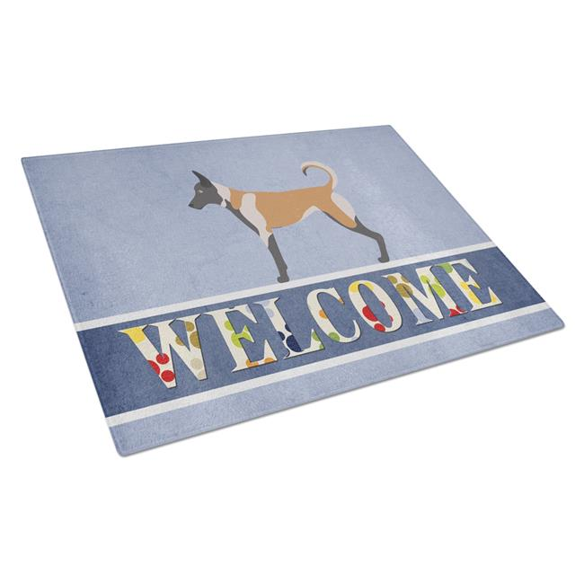 Carolines Treasures BB8299LCB Malinois Welcome Glass Cutting Board - Large - image 1 de 1