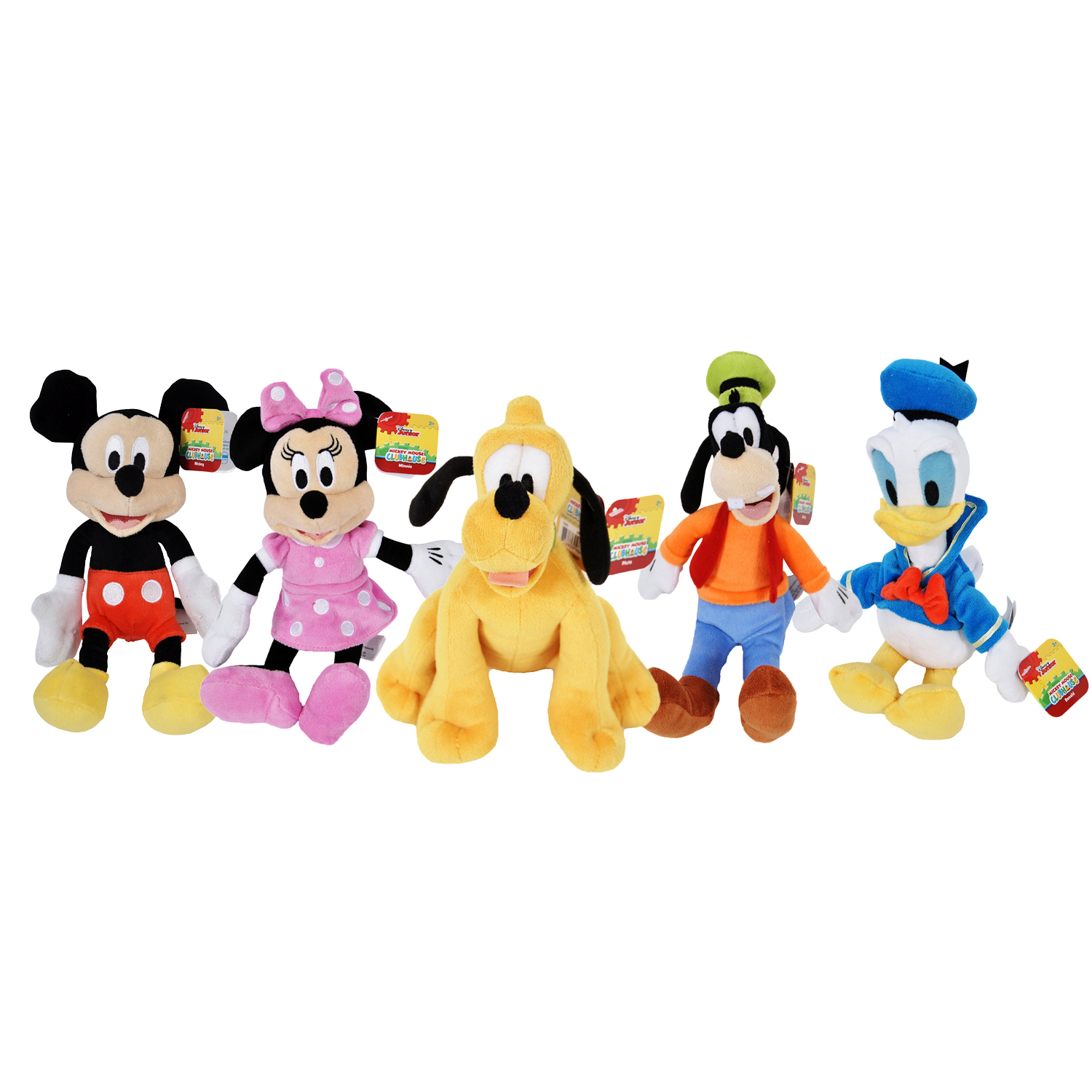 "Disney 9"" Beanbag Plush Stuffed Dolls 5-Pack Mickey Minnie Donald Pluto Goofy"