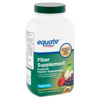 Equate Fiber Supplement Assorted Fruit Flavors Chewable Tablets, 90 Count