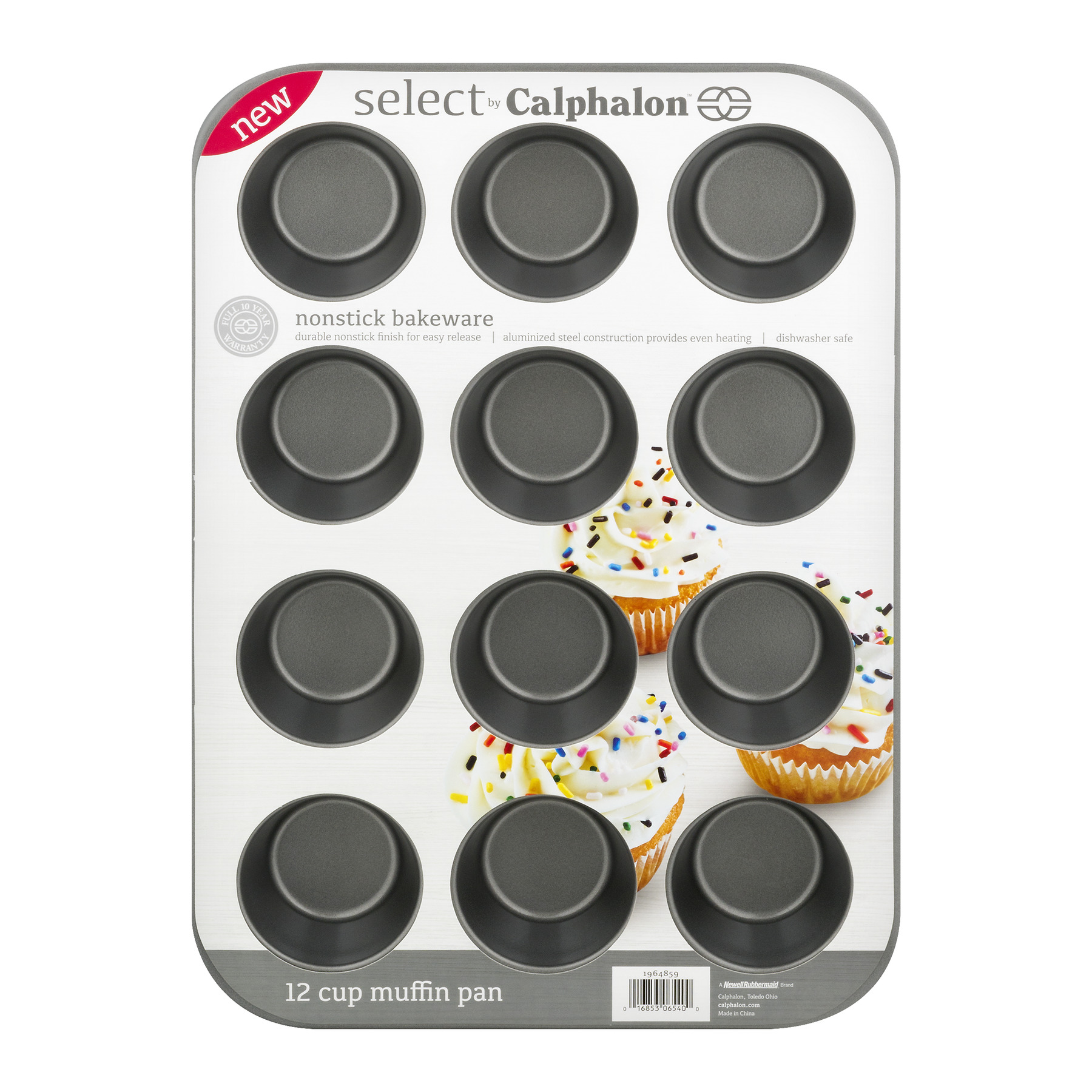 Select by Calphalon Nonstick Bakeware 12 Cup Muffin Pan, 1.0 CT