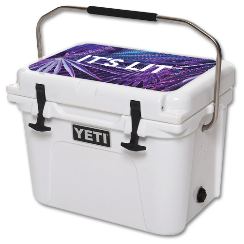 Skin For YETI Roadie 20 qt Cooler Lid – Its Lit | MightySkins Protective, Durable, and Unique Vinyl Decal wrap cover | Easy To Apply, Remove, and Change Styles | Made in the USA