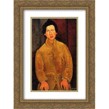 Amedeo Modigliani 2x Matted 20x24 Gold Ornate Framed Art Print 'Chaim Soutine'